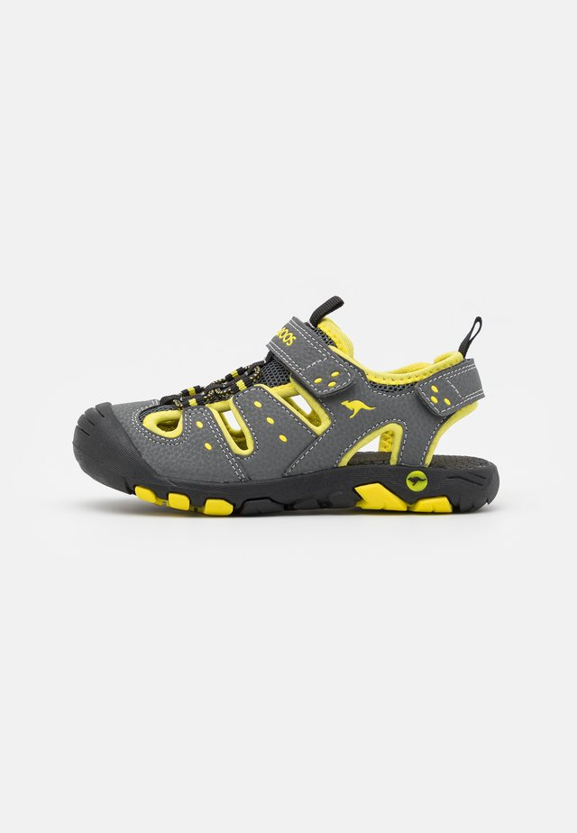 K-TREK - Tursandaler - steel grey/neon yellow