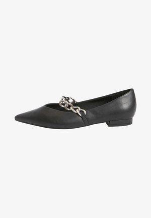 CHAIN DETAIL - Ballet pumps - black