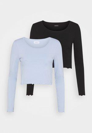 2 PACK - T-shirt à manches longues - black/blue