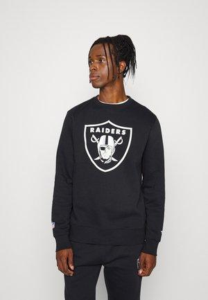 NFL LAS VEGAS RAIDERS MID ESSENTIALSPRIMARY COLOUR LOGO GRAPHIC  - Sweatshirt - black