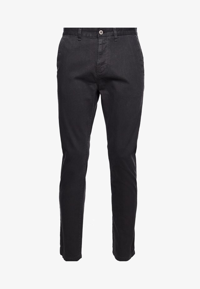STRAIGHT  - Chinos - washed black