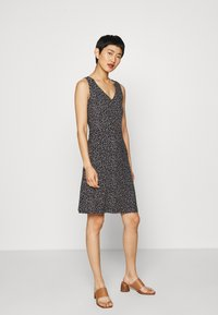 TOM TAILOR - Jersey dress - black/offwhite - 1