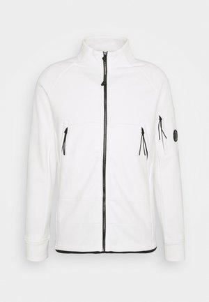OPEN - Zip-up hoodie - gauze white