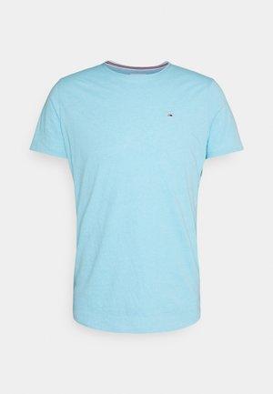 SLIM JASPE C NECK - T-paita - chilly blue