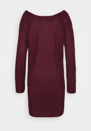 AYVAN OFF SHOULDER JUMPER DRESS - Abito in maglia - burgundy