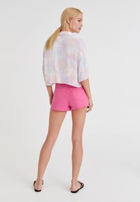 PULL&BEAR - MIT TIE-DYE - Button-down blouse - white - 2