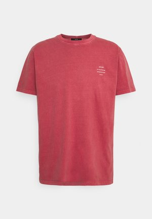 BAND TEE - T-shirt print - washed red