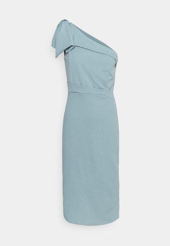 SARIYAH SHOULDER DETAIL MIDI DRESS - Cocktail dress / Party dress - duck egg blue