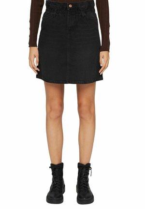 Mini skirt - black denim