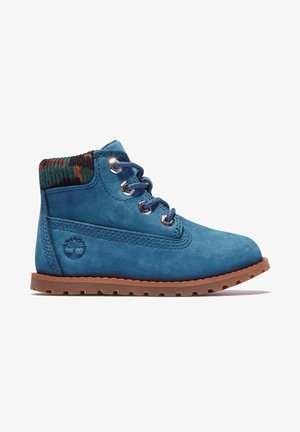 POKEY PINE WITH SIDE ZIP - Lace-up ankle boots - majolica blue