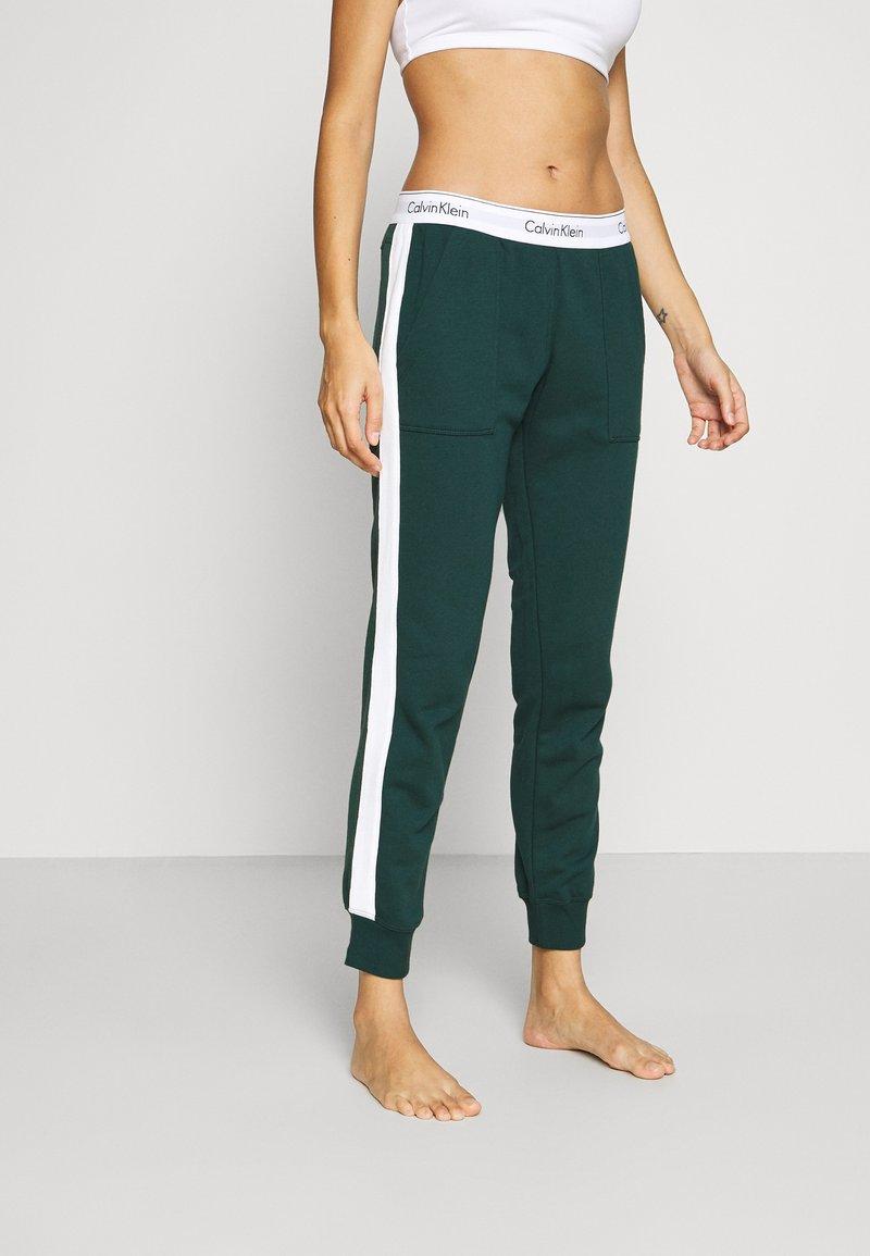 Calvin Klein Underwear - MODERN LOUNGE FULL ZIP HOODIE - Mikina na zip - camp