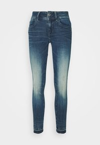 G-Star - LYNN MID SKINNY RIPPED ANKLE  - Jeans Skinny Fit - antic faded baum blue - 4
