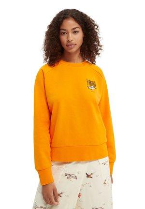 Sweatshirt - bright orange