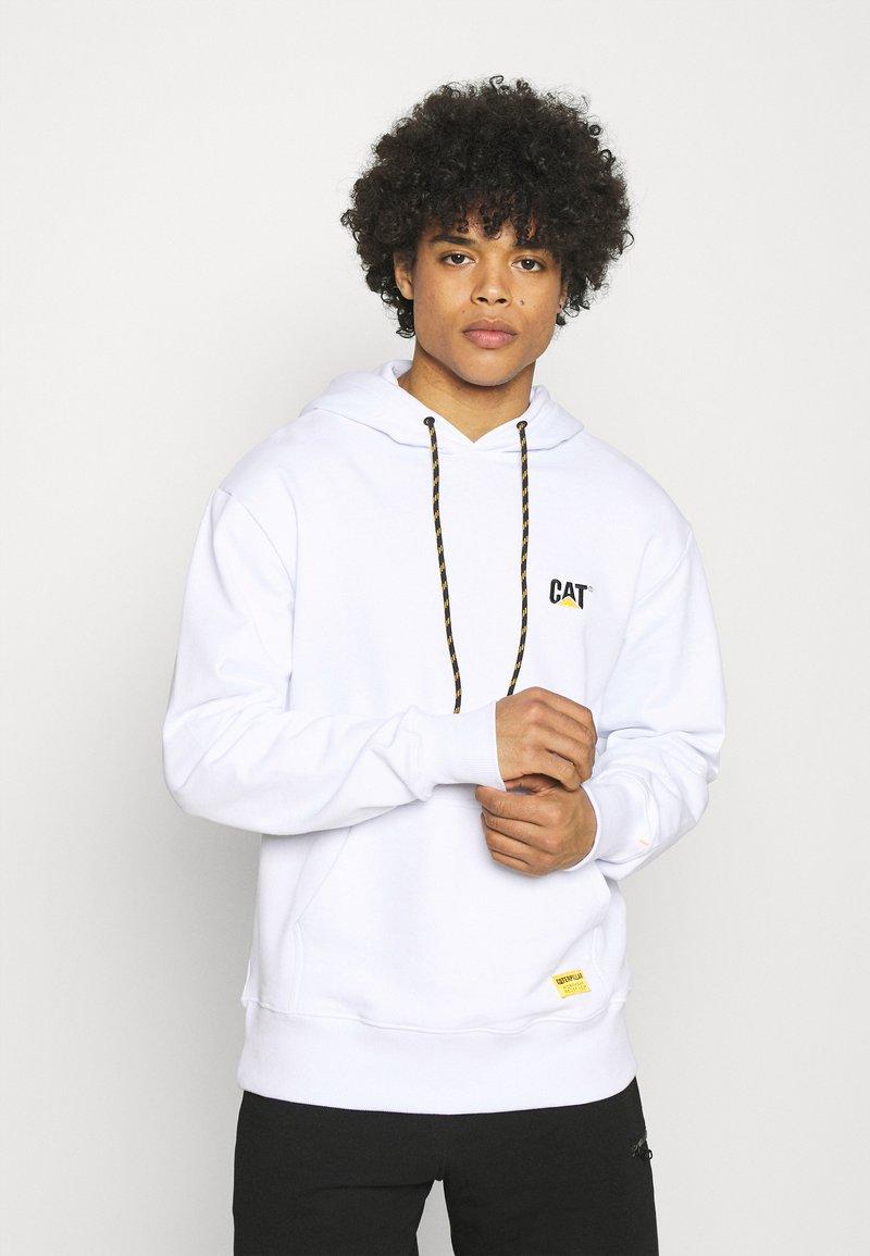 Caterpillar - SMALL LOGO HOODIE - Sweatshirt - white