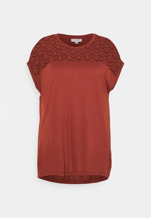 CARFLAKE LIFE MIX TOP  - T-shirts med print - roasted russet