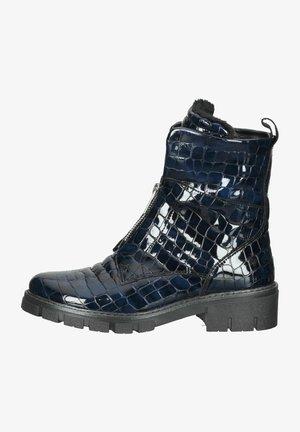 Platform ankle boots - midnight