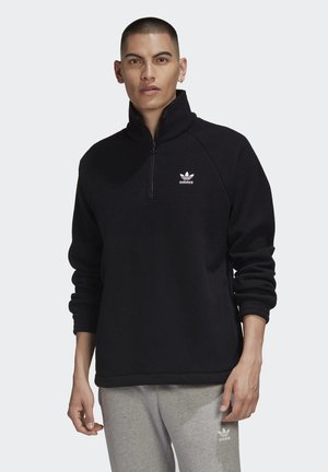 ADICOLOR POLAR FLEECE HALF-ZIP SWEATSHIRT - Träningsjacka - black
