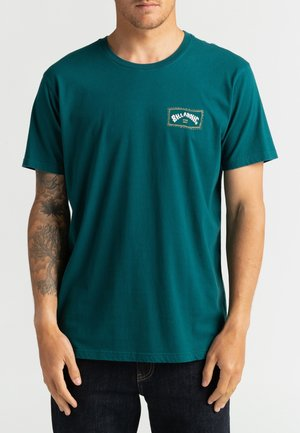 Print T-shirt - deep teal