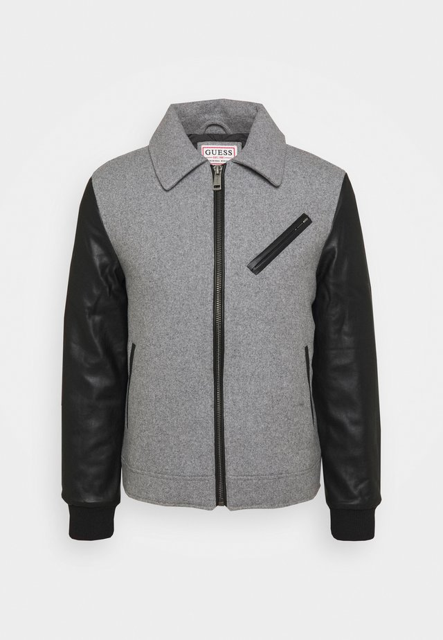 VARSITY BIKER - Light jacket - stone heather grey