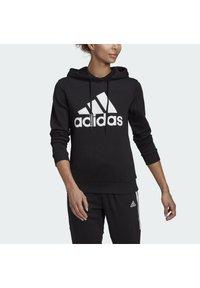adidas Performance - ESSENTIALS RELAXED LOGO HOODIE - Hoodie - black - 3