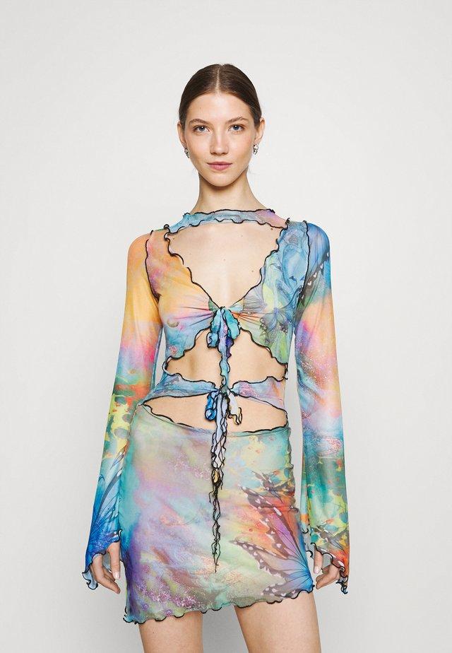 TIE FRONT DRESS MIX FAIRY PRINT - Vestito elegante - multi