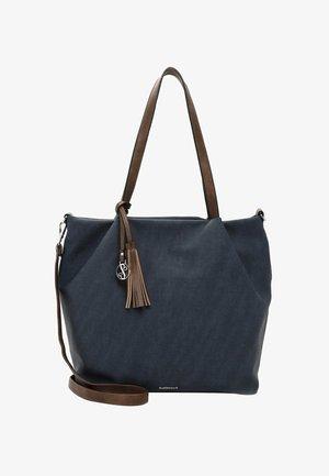 ELKE - Shoppingväska - blue/taupe
