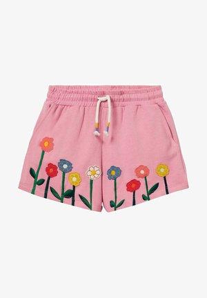 MIT APPLIKATION - Shorts - kirschblütenrosa blumen