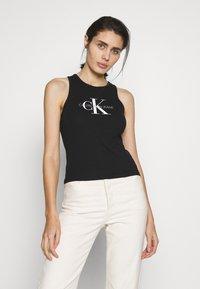 Calvin Klein Jeans - MONOGRAM STRETCH SPORTY TANK - Top - black - 0