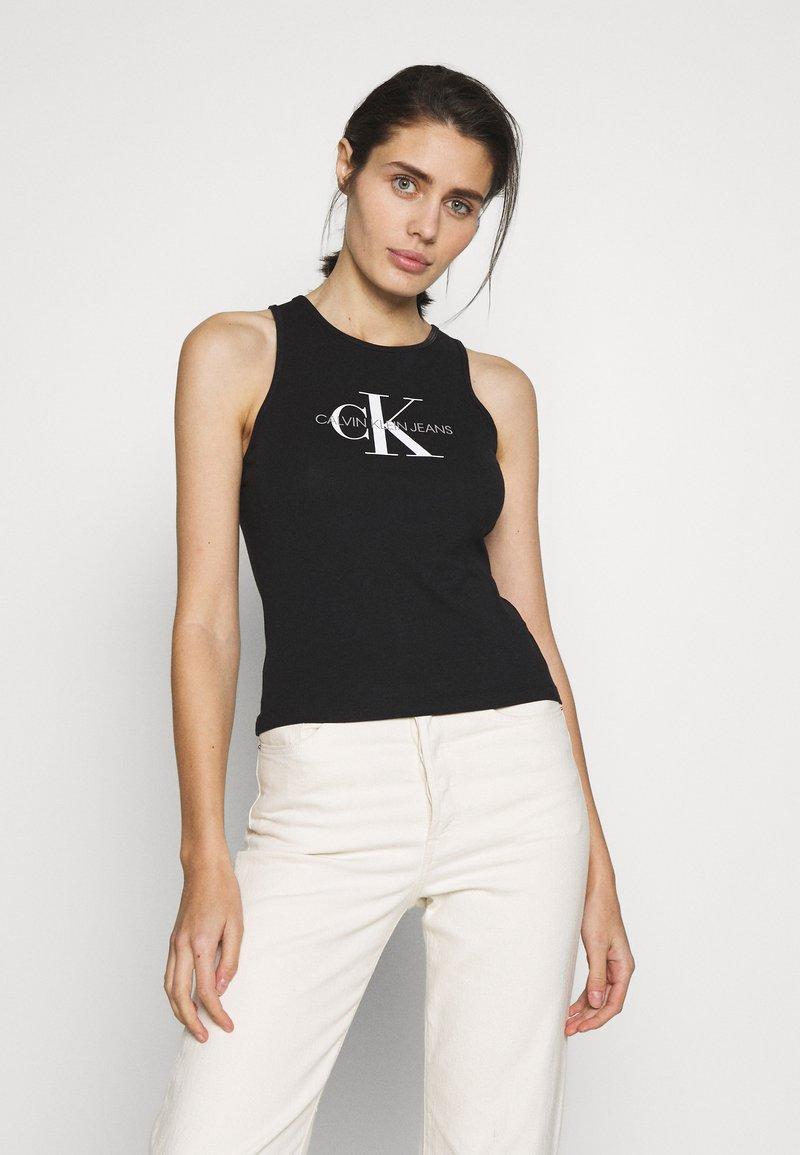 Calvin Klein Jeans - MONOGRAM STRETCH SPORTY TANK - Top - black