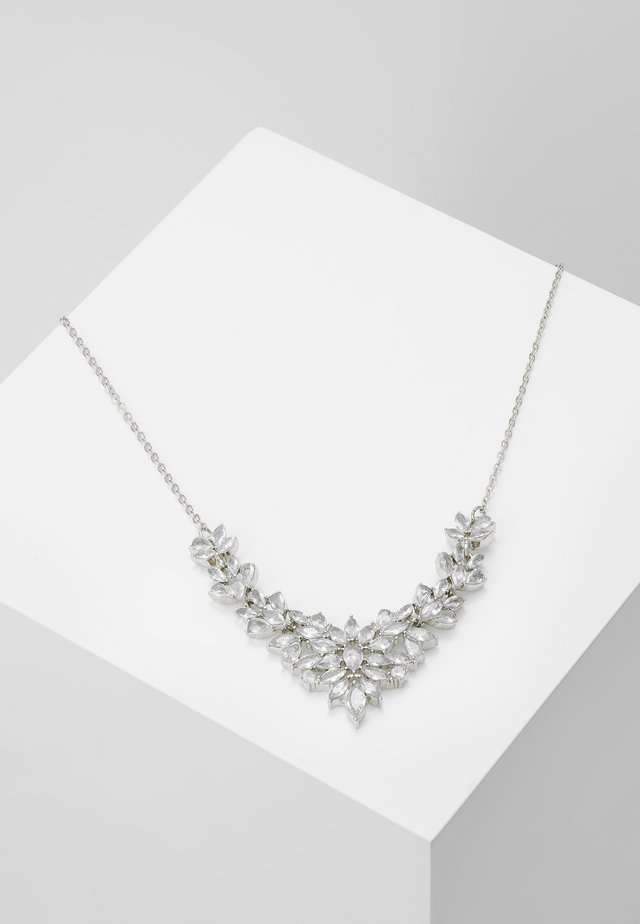 ONLSHARKY NECKLACE - Smykke - silver-coloured/clear