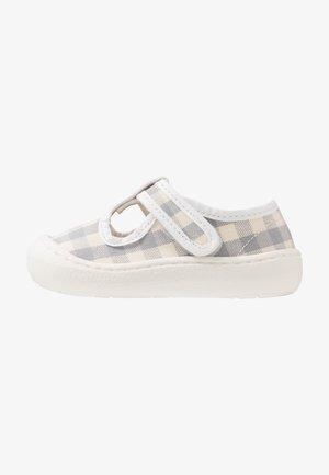 ARENA - Ankle strap ballet pumps - weiß/grau