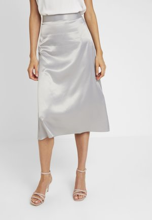 BIAS CUT MIDI SKIRT - A-line skirt - grey