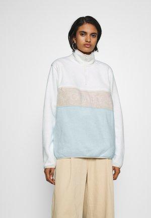 DENALI HALF ZIP - Sweatshirt - bone/vapor blue