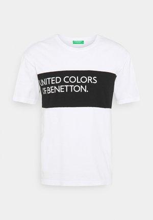 BIG LOGO - T-shirt print - white