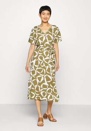 CRESENT BLOOM DRESS - Jerseyklänning - olive green