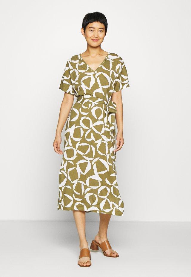 CRESENT BLOOM DRESS - Jersey dress - olive green