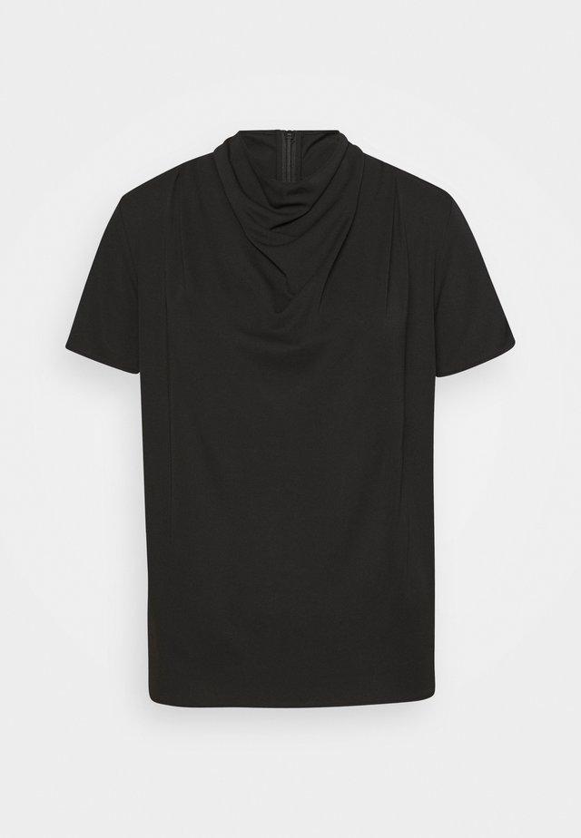 VOLONA - Jednoduché triko - black