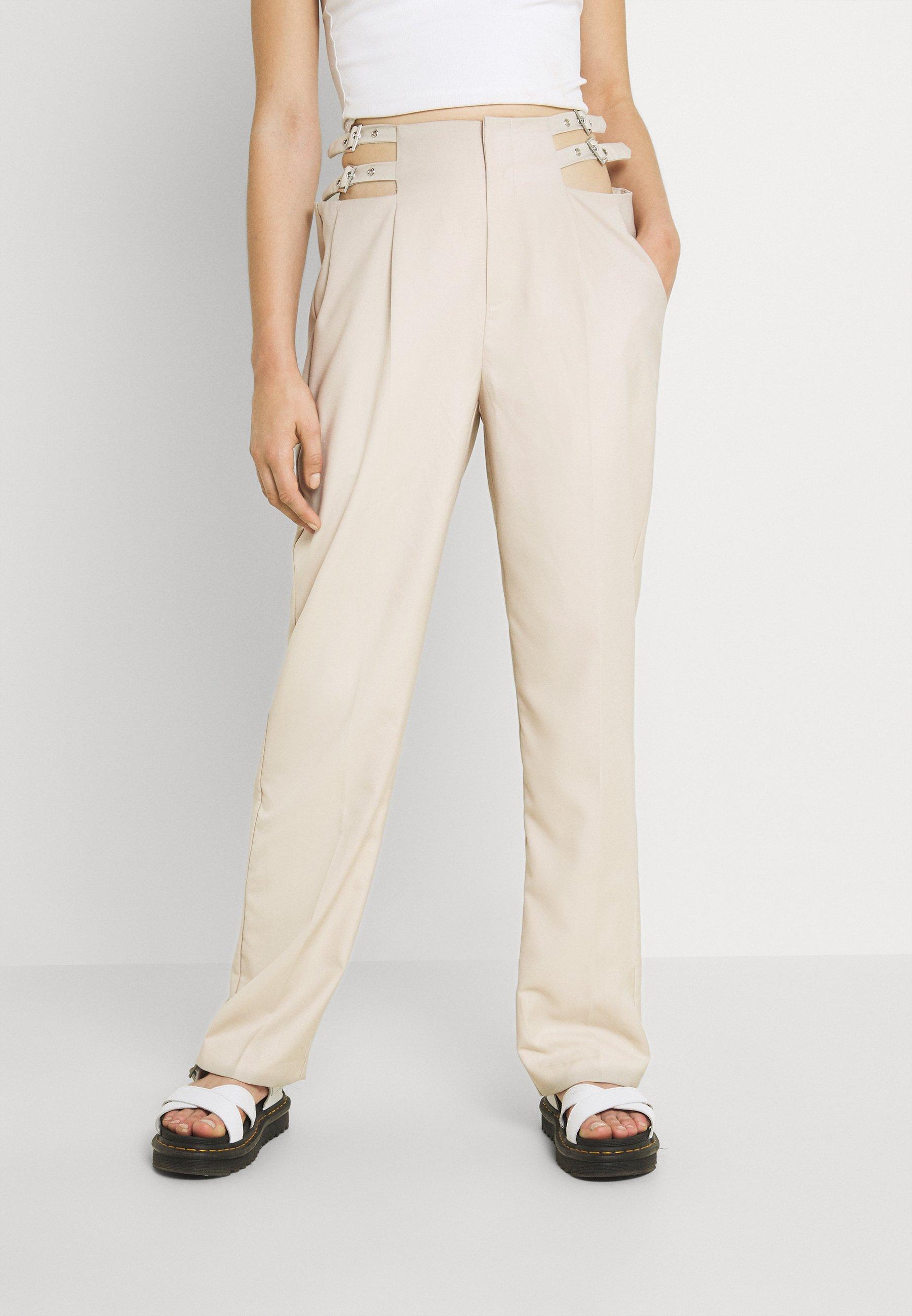 Damer BUCKLE HIGH WAIST PANTS - Bukser