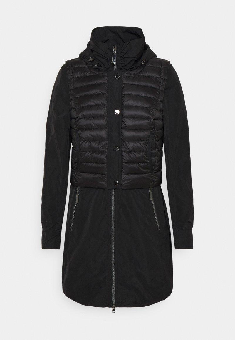 comma - Klasyczny płaszcz - black