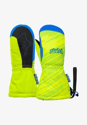 Mittens - neon yellow brilliant blu