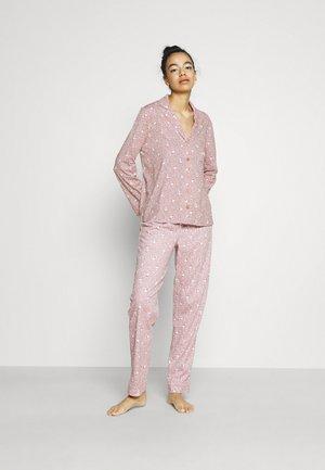 SNOOPY COTTAGE LONG FLOWER - Pyjama - purple
