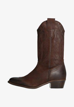Cowboy/Biker boots - dunkelbraun