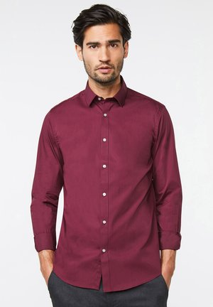 Shirt - burgundy red