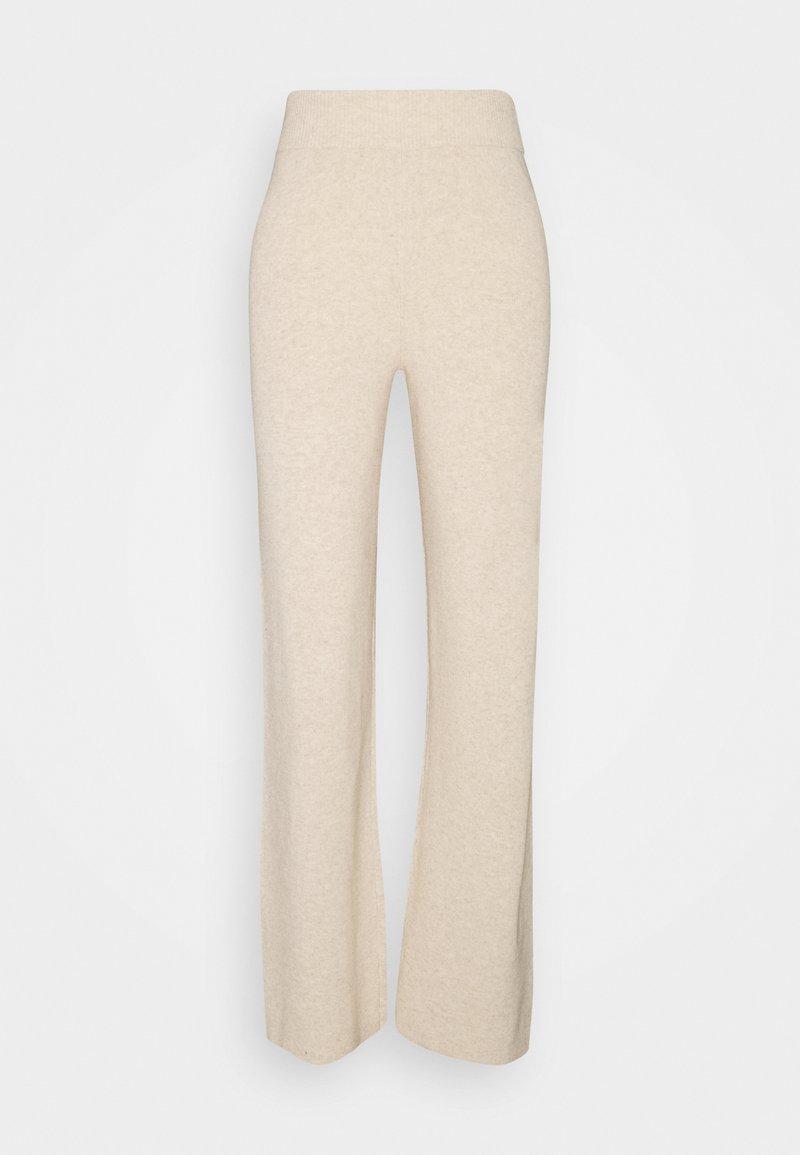 YAS - YASASSI PANT - Trousers - eggnog