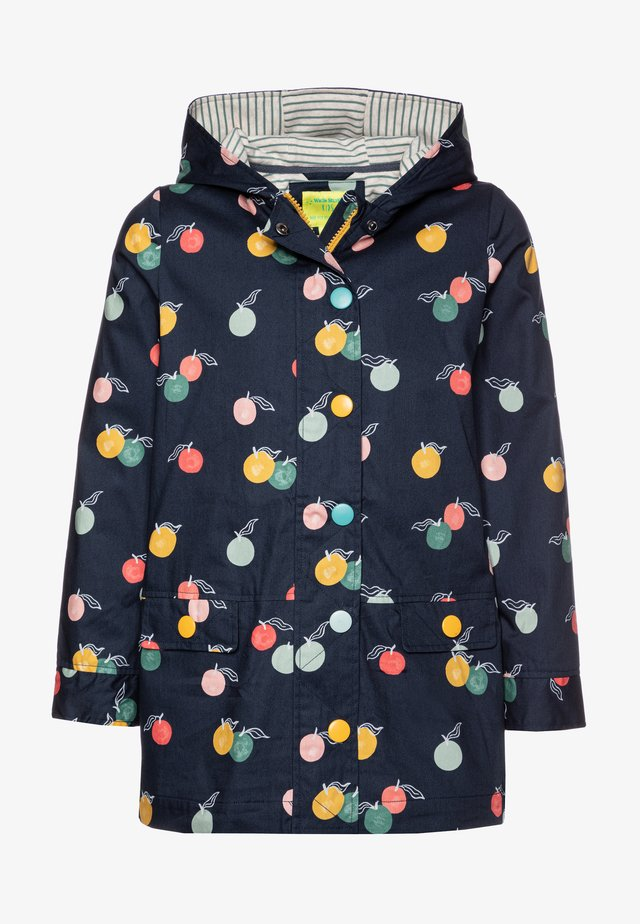 LUCY PRINTED - Waterproof jacket - washed blue