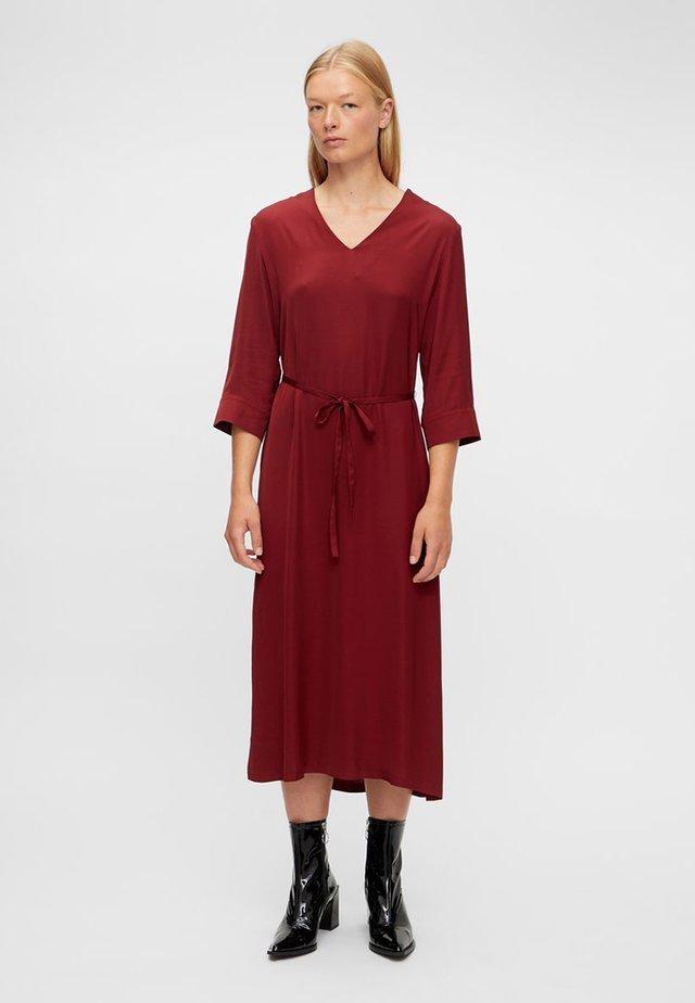 SASH - Day dress - chili red