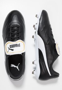 Puma - KING TOP FG - Moulded stud football boots - black/white - 1