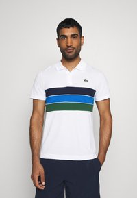 Lacoste Sport - RAINBOW STRIPES - Poloshirt - blanc /vert/bleu/bleu marine - 0