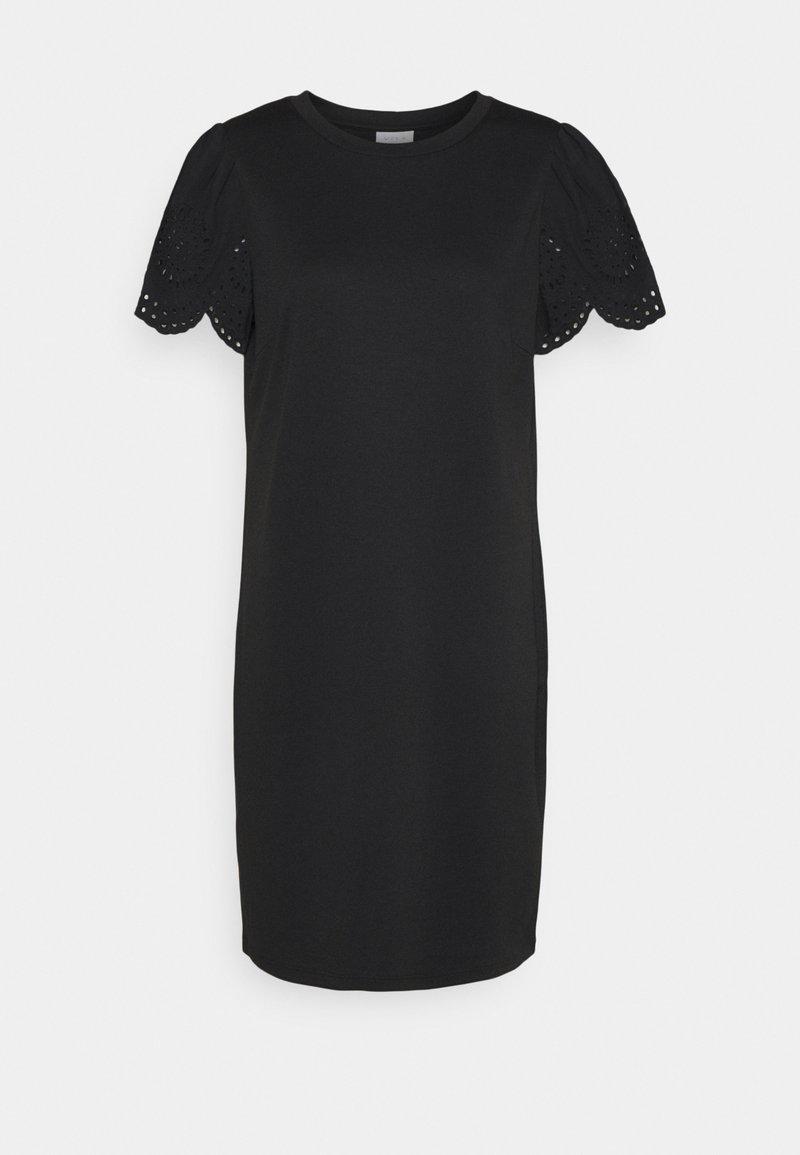 Vila - VITINNY FLOUNCE DETAIL DRESS - Jersey dress - black