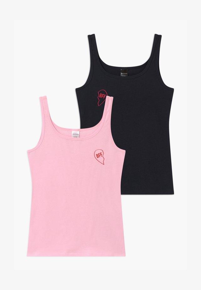 TEENS BEST FRIENDS 2 PACK - Unterhemd/-shirt - dark blue/pink